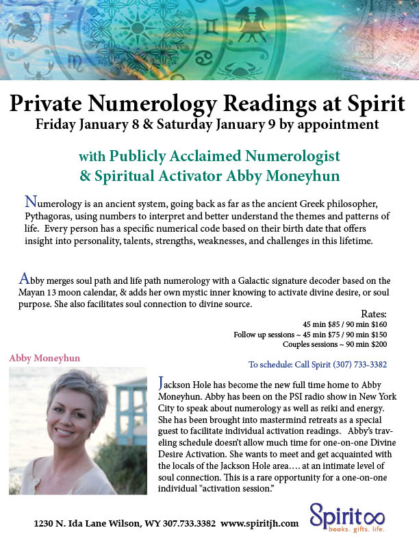 Numerology Readings with Abby Moneyhun | Spirit JH